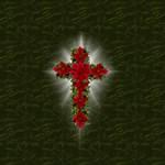 Christmas Poinsettia Cross Christian