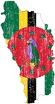 Dominica Flag And Map