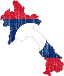 Laos Flag And Map