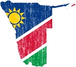 Namibia Flag And Map
