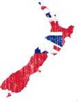 New Zealand Civil Ensign Flag And Map