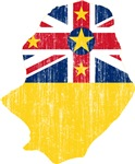 Niue Flag And Map