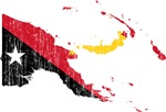 Papua New Guinea Flag And Map