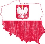 Poland State Ensign Flag And Map