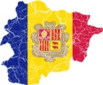 Andorra Flag And Map