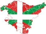Basque Community Flag And Map