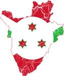 Burundi Flag And Map