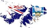 Falkland Islands Flag And Map