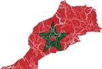 Morocco Flag And Map