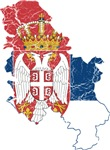 Serbia Flag And Map