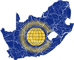South Africa Commonwealth Flag And Map