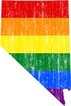 Nevada Rainbow Pride Flag And Map