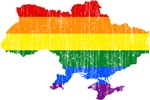 Ukraine Rainbow Pride Flag And Map