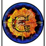 Masonic Eye on Blue
