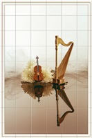 CELLO AND HARP TILE MURAL