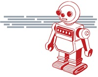 Old School Robot| Vintage Space Age T-shirtss & Giftsl