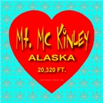 Mt. Mc Kinley Alaska Snowflake Heart