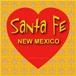 Santa Fe New Mexico Golden Snowflake Heart
