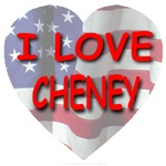 I Love Cheney Flag Heart
