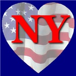 Love NY Flag Heart
