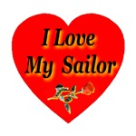I Love My Sailor Rose Heart