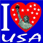 I Love USA Statue of Liberty Heart 2006a