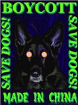 Boycott Made In China K9 Killers Save Dogs! Neon G