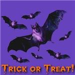 Trick or Treat Bat Swarm Purple Sky