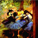 Degas Blue Dancers 1890