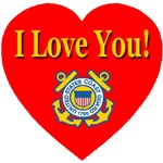 I Love You USCG Emblem & Heart