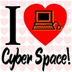 I Love Cyber Space Glowing PC (Front & Back)