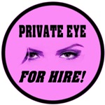 Private Eye For Hire Multi Color Emblems