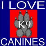 I Love Canines (Front & Back as available)