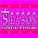 Season Greetings Pretty In Pink