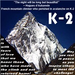 K-2 Memorial Alpine White Font
