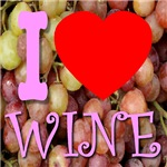 I (Heart) Wine Pretty In Pink Font