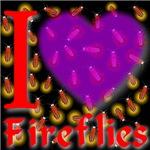 I Love Fireflies Purple Heart