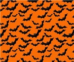 Bats flying on Halloween