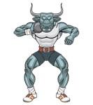 bull shotputter