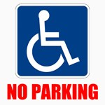Handicapped No Parking