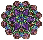 Rainbow Lace Doily stain glass inspired design