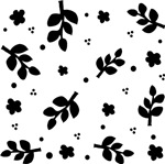 Black and White Leaf Silhouette pattern