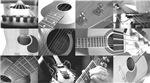 Stylish Guitar Photo Collage