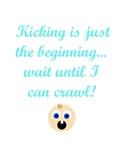 Kicking Maternity Tee Humor