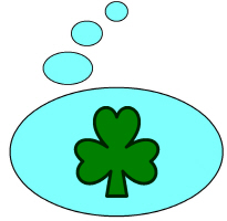 THINKING (SHAMROCK) BUBBLE