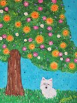 Westie West Highland White Terrier Dog Breed Art