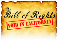 Bill of Rights, Void in California