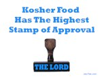 Kosher Food The Lord's Approval