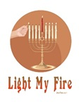 Light My Fire Menorah Hanukkah