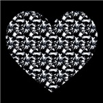 Black and White Patterned Heart